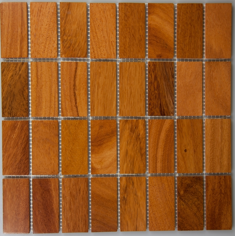 Doussie 33.5mm x 70mm Wood Tile