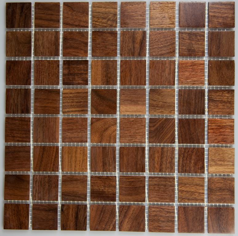 Walnut 33.5mm x 33.5mm Wood Tile