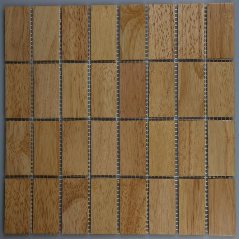 Rubber Wood 33.5mm x 77mm Wood Tile