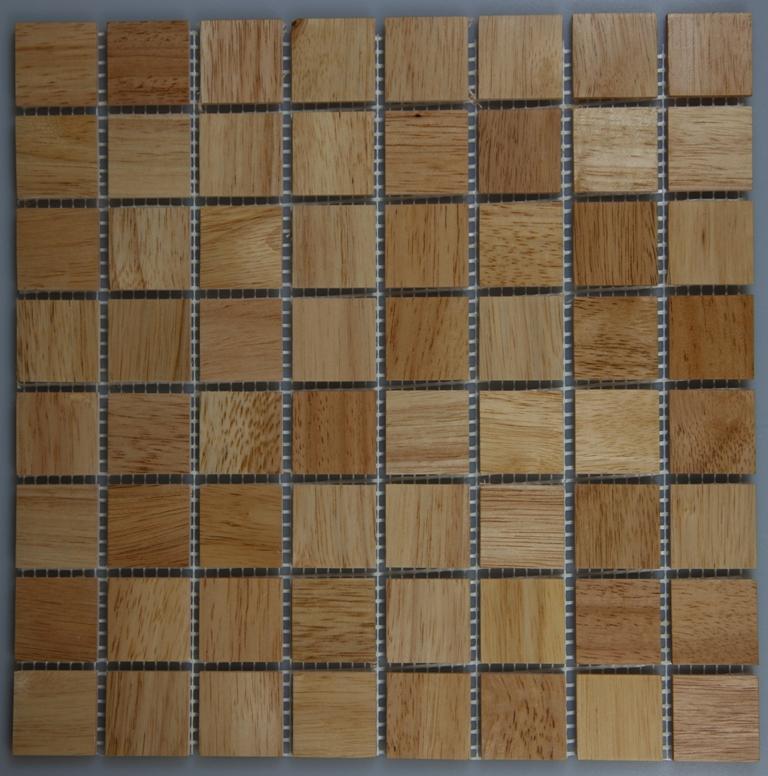 Rubber Wood 33.5mm x 33.5mm Wood Tile
