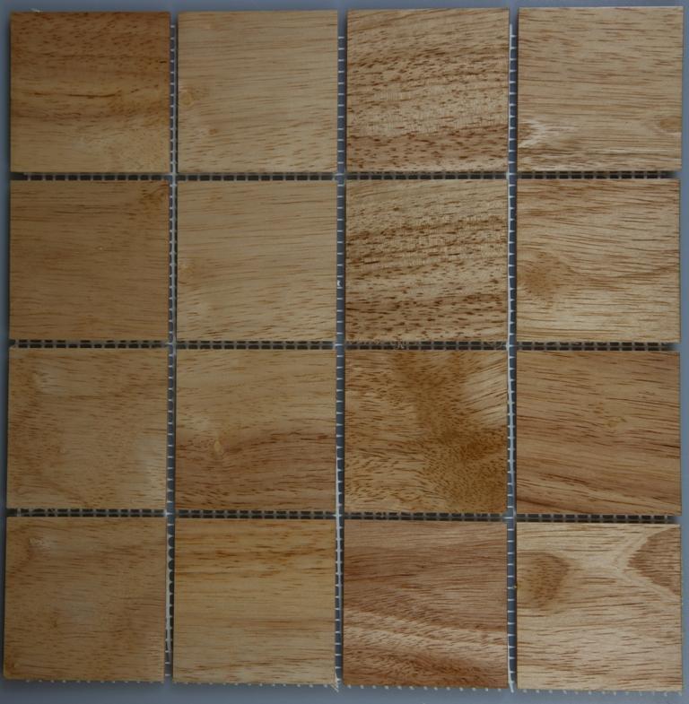 Rubber Wood 77mm x 77mm Wood Tile