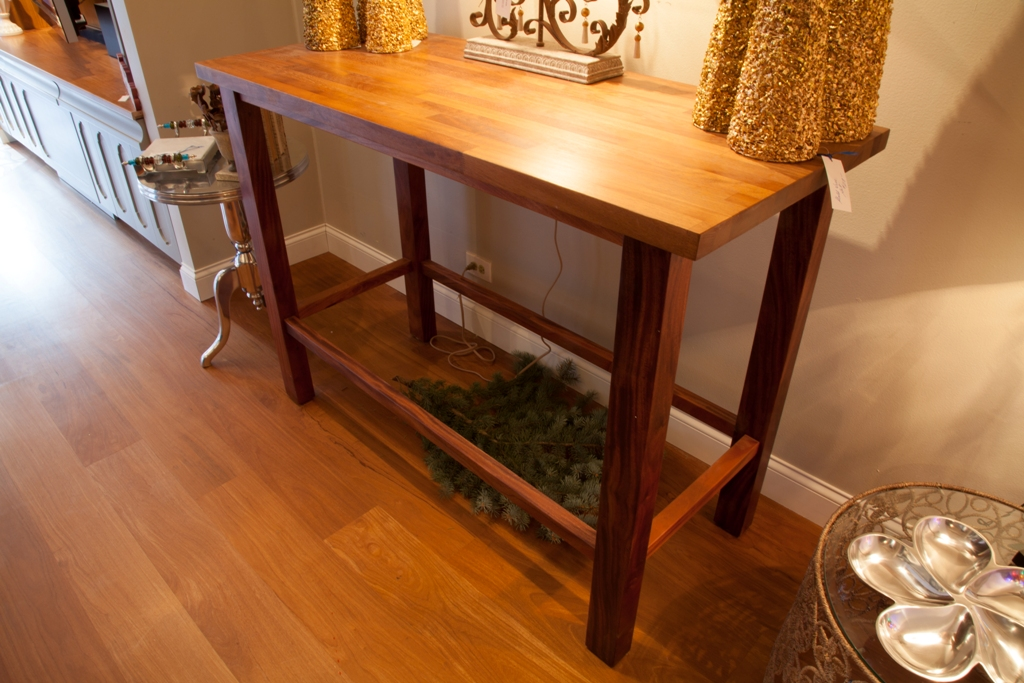 Iroko and Mahogany Table