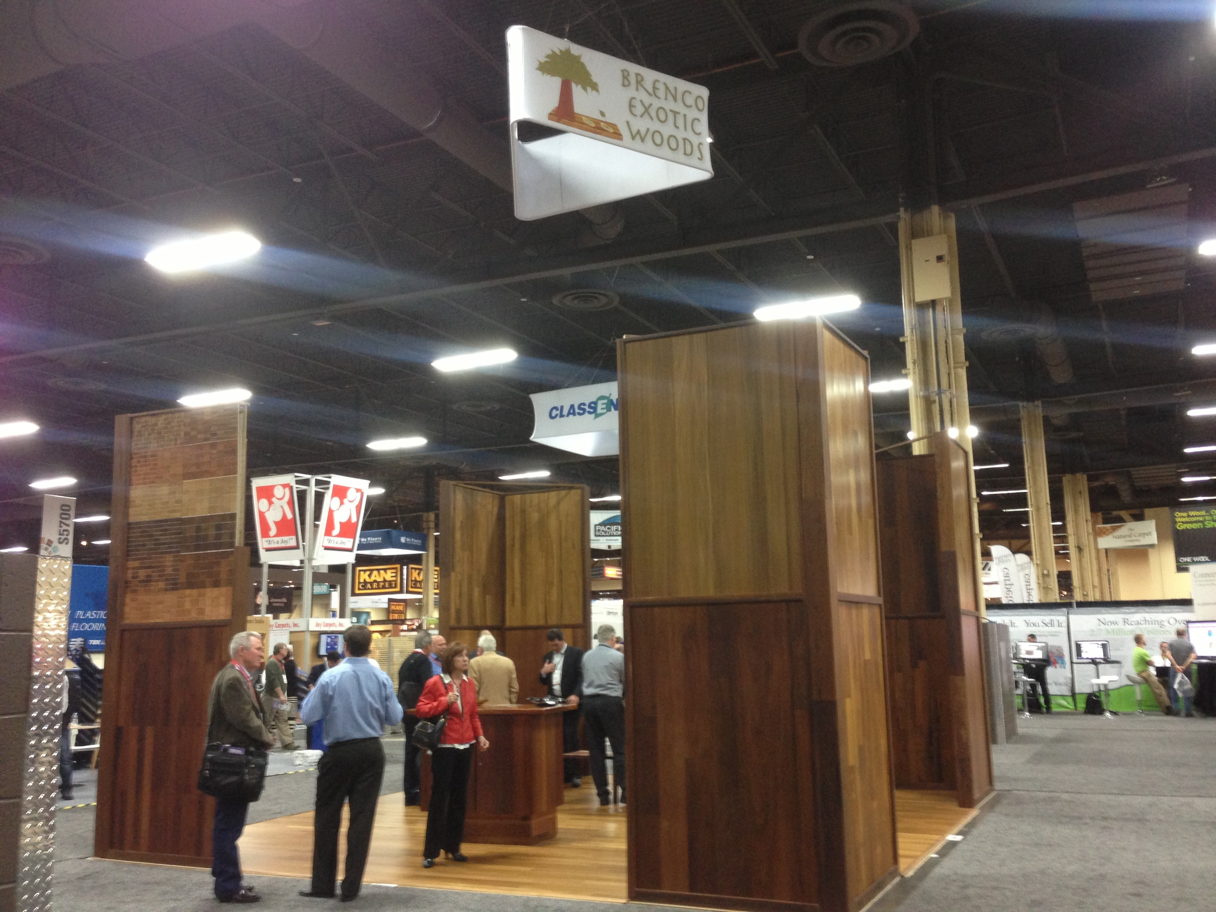 Brenco Exotic Woods Booth at Surfaces 2014 Las Vegas