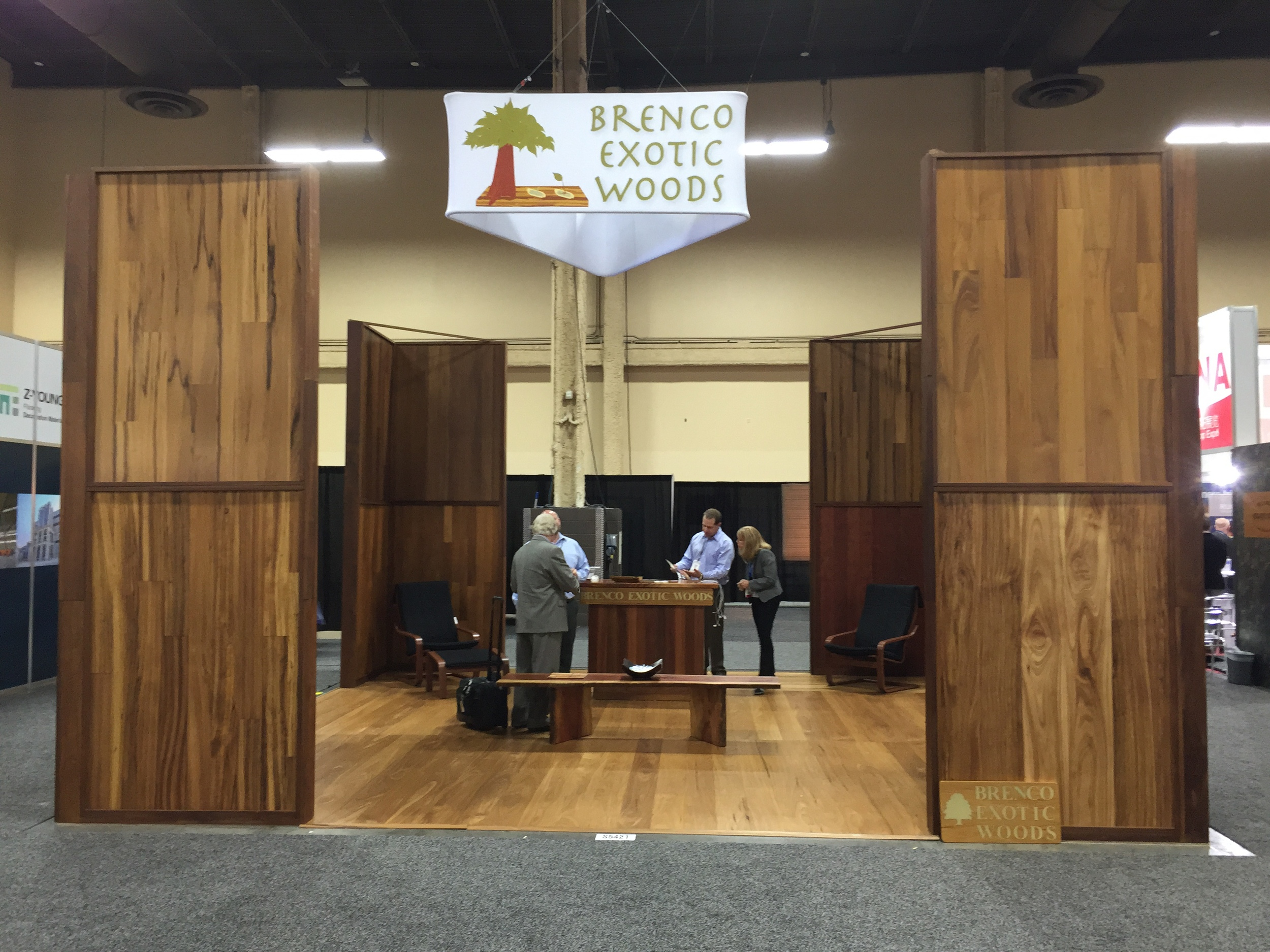 Brenco Exotic Woods Booth Surfaces 2015 Las Vegas