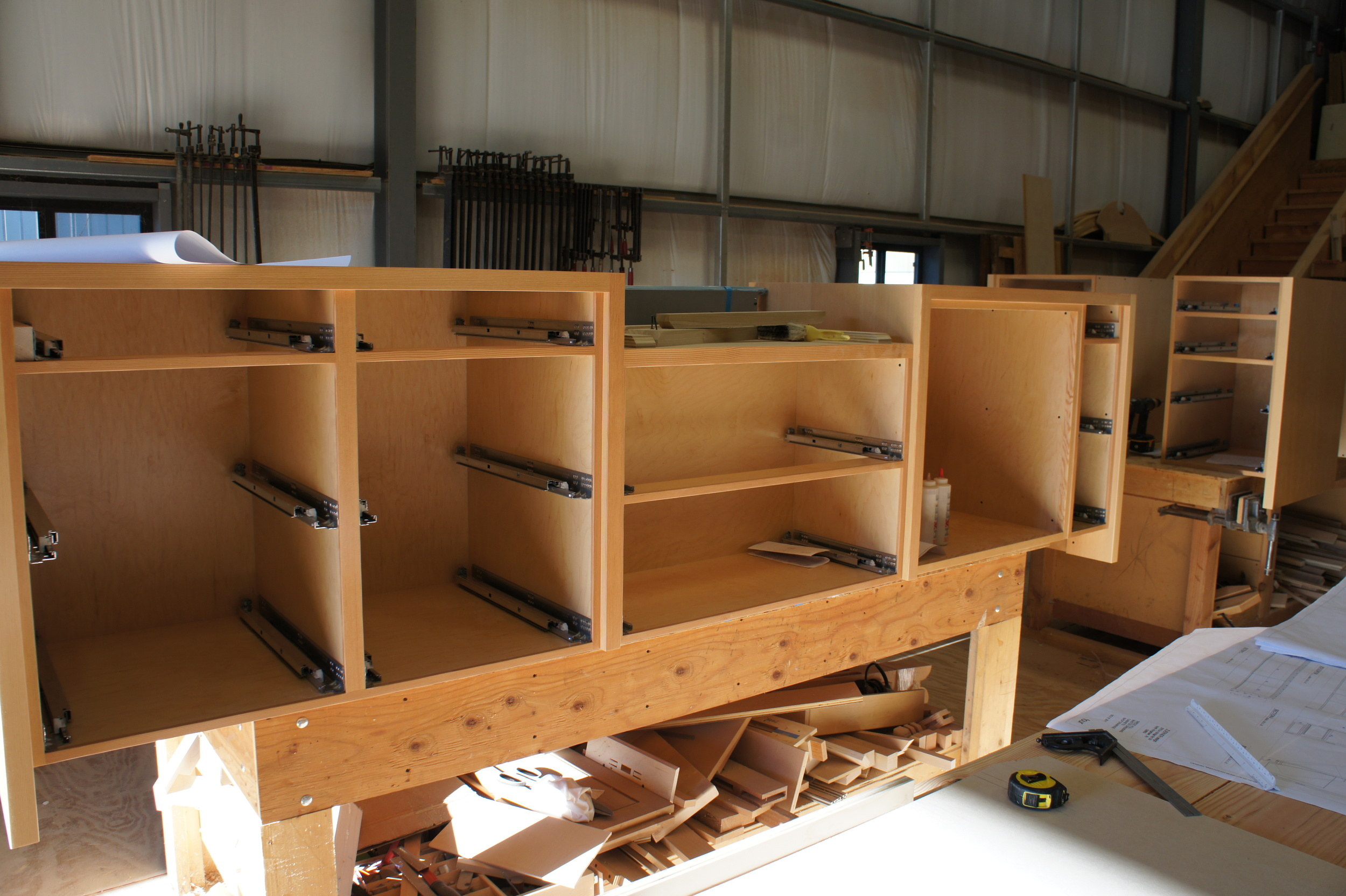 Douglas Fir Kitchen Cabinets ready to load..
