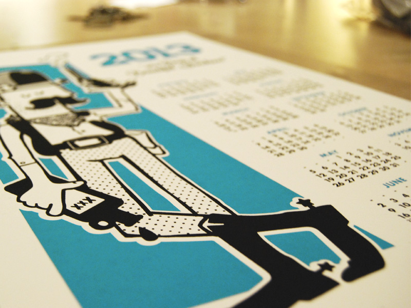 New 2013 Calendars. Hand-printed by the kind folks behind Second Block Studio.