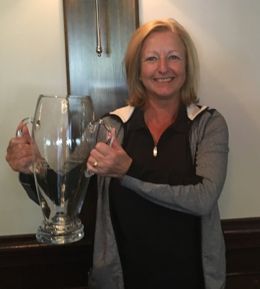 Julie Grimwood won her match against Lynn Griesinger on the 17th hole with both players taking their share of holes.