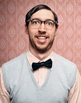 My inner nerd looks like pretty much like this guy....except without the awesome bow tie.