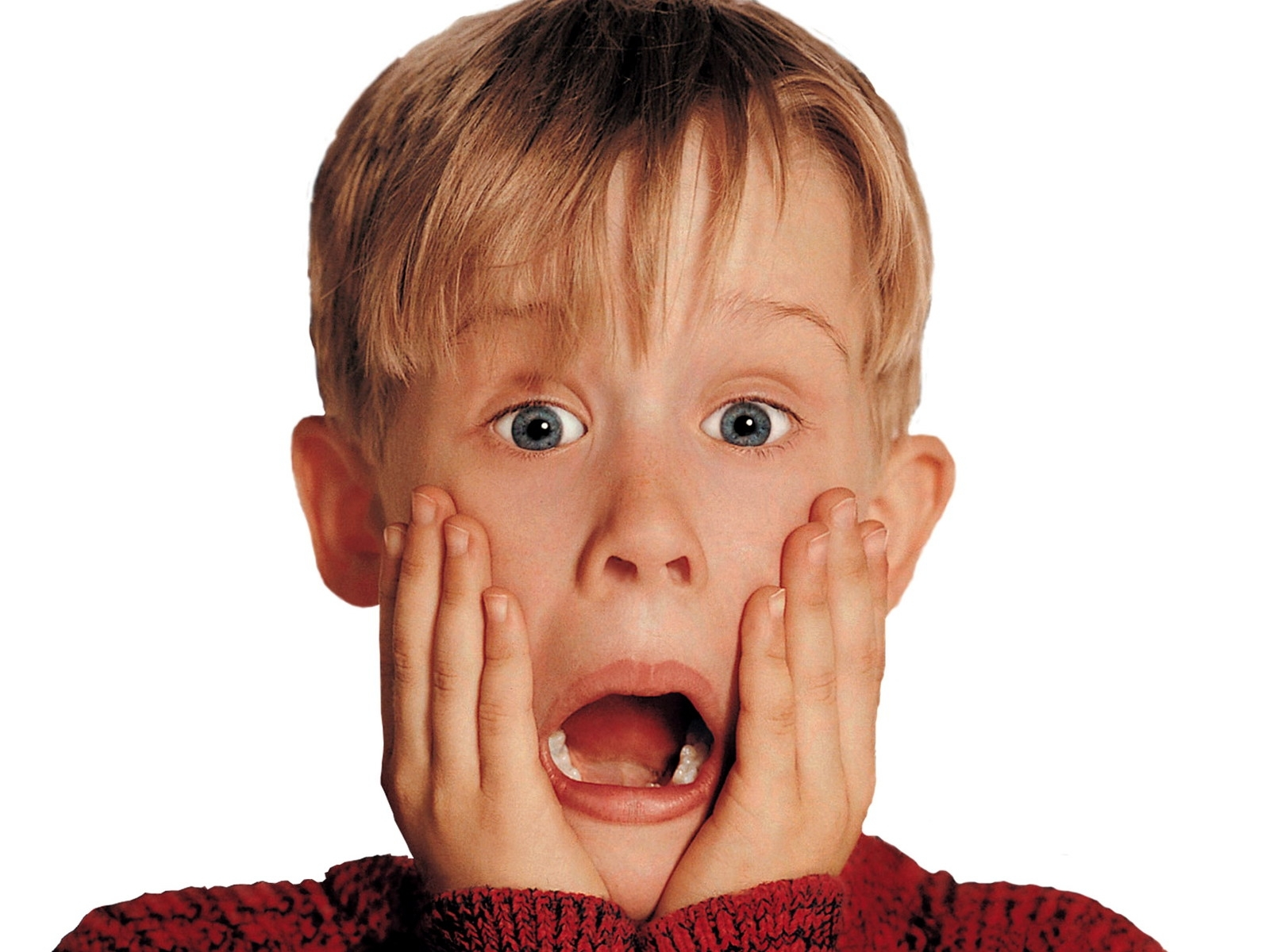 Surprised? Well, this is my surprised face. (Sidenote: Home Alone came out 24 years ago..and that makes me feel old.)