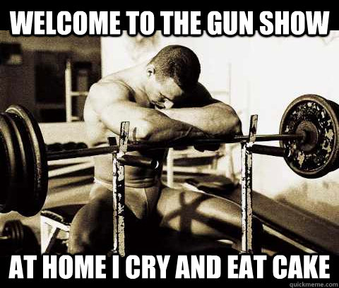 If you prick a bodybuilder, does he not bleed all the way back to the squat rack?