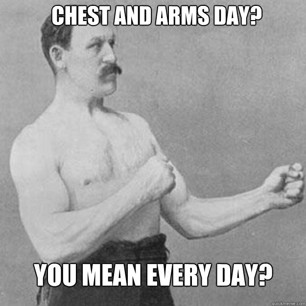 Sorry, overly manly man. That type of workout is so 20th century.