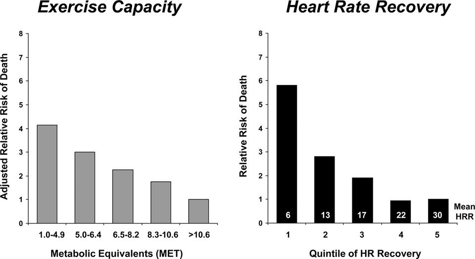 In case you were curious about the connection aerobic capacity and heart rate recovery have on our health,  see the source here.