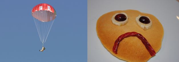 Parachutes and Pancakes - that sounds like a great title for a children's book!