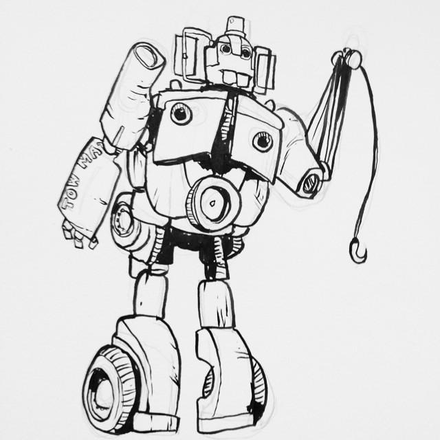 Mater as an Autobot