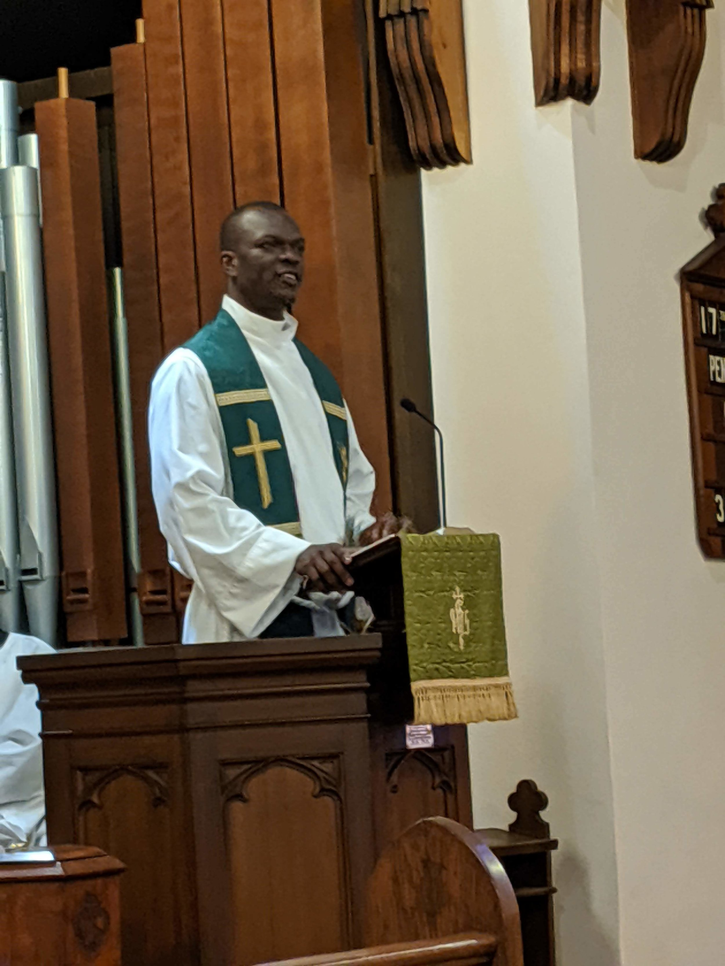 - On Sunday October 6, 2019, we were blessed to have Reverend Fred Ochieng Onyango as our guest preacher. Rev. Fred is an ordained priest of the Anglican Diocese of Maseno South in Kenya.He preached on the Gospel of Luke 17: 1-19.Click here for his sermon:Rev. Fred Onyango