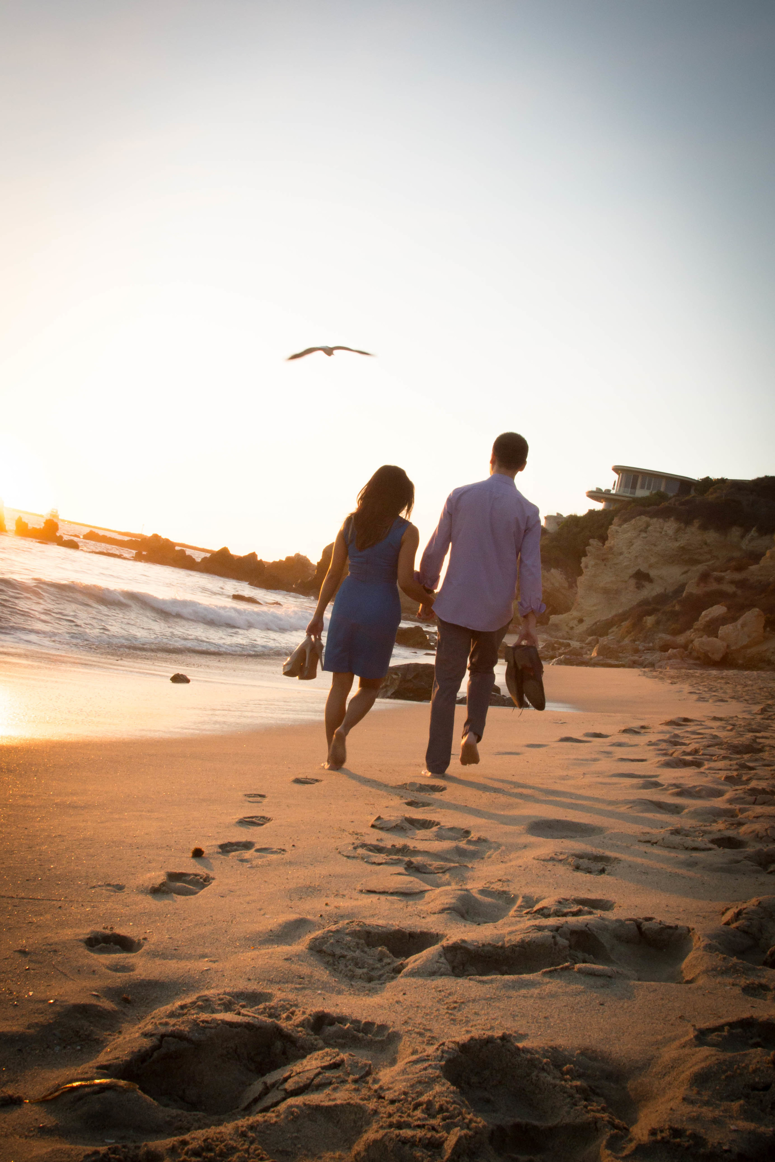 Warm walks on the beach at sunset with the waves crashing can bring happiness to anyone, well maybe not vampires.