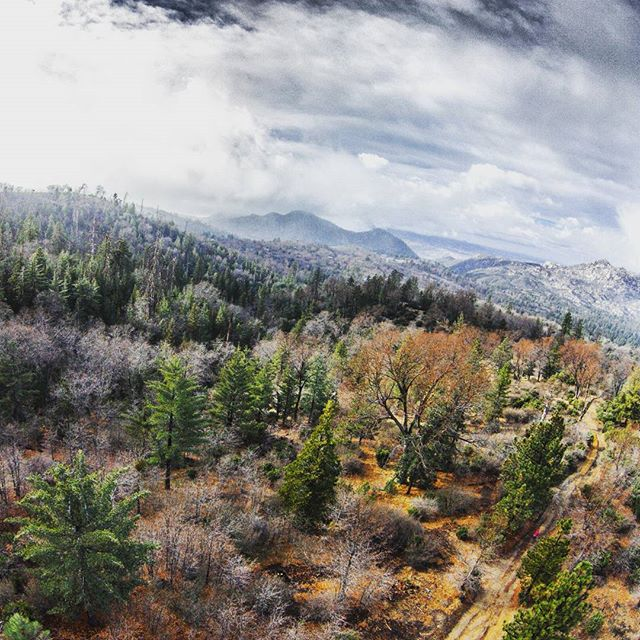 Now #fun #trailriding #trails in #lakearrowhead #california #winter #stom is on the way #cold #sky #clouds #adventure #outdoors #hiking #travel #forrest #trees #mountains #drone #dji #phantom