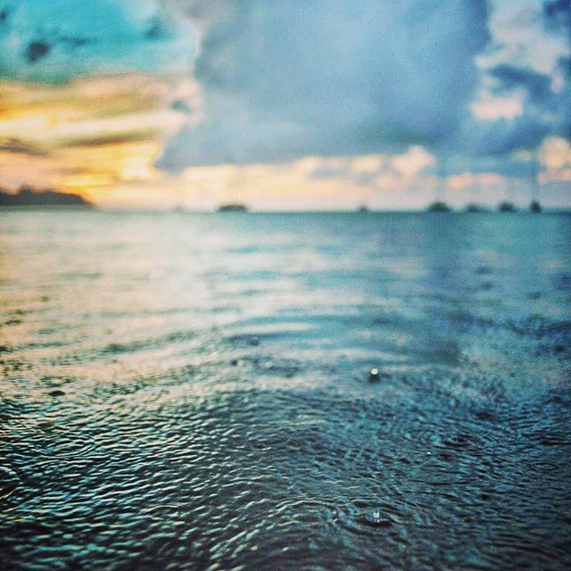 Without #rain #life would be only a #desert sometimes difficult but sometimes #beautiful as you look to the #heavens #sky #clouds #water #ocean #reflection #sunset #newday #swim #nature #outdoors #danceinrain