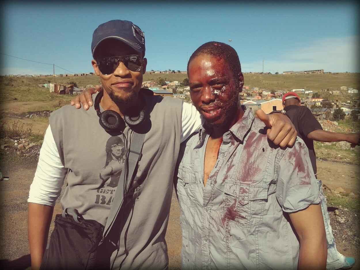 Jahmil XT Qubeka and Mothusi Magano as Parker on location.jpg