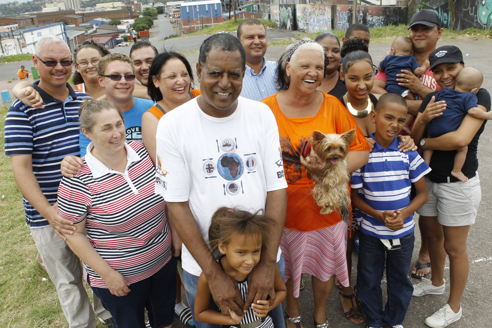 Desmond D'Sa and member os his extended family - south Durban.