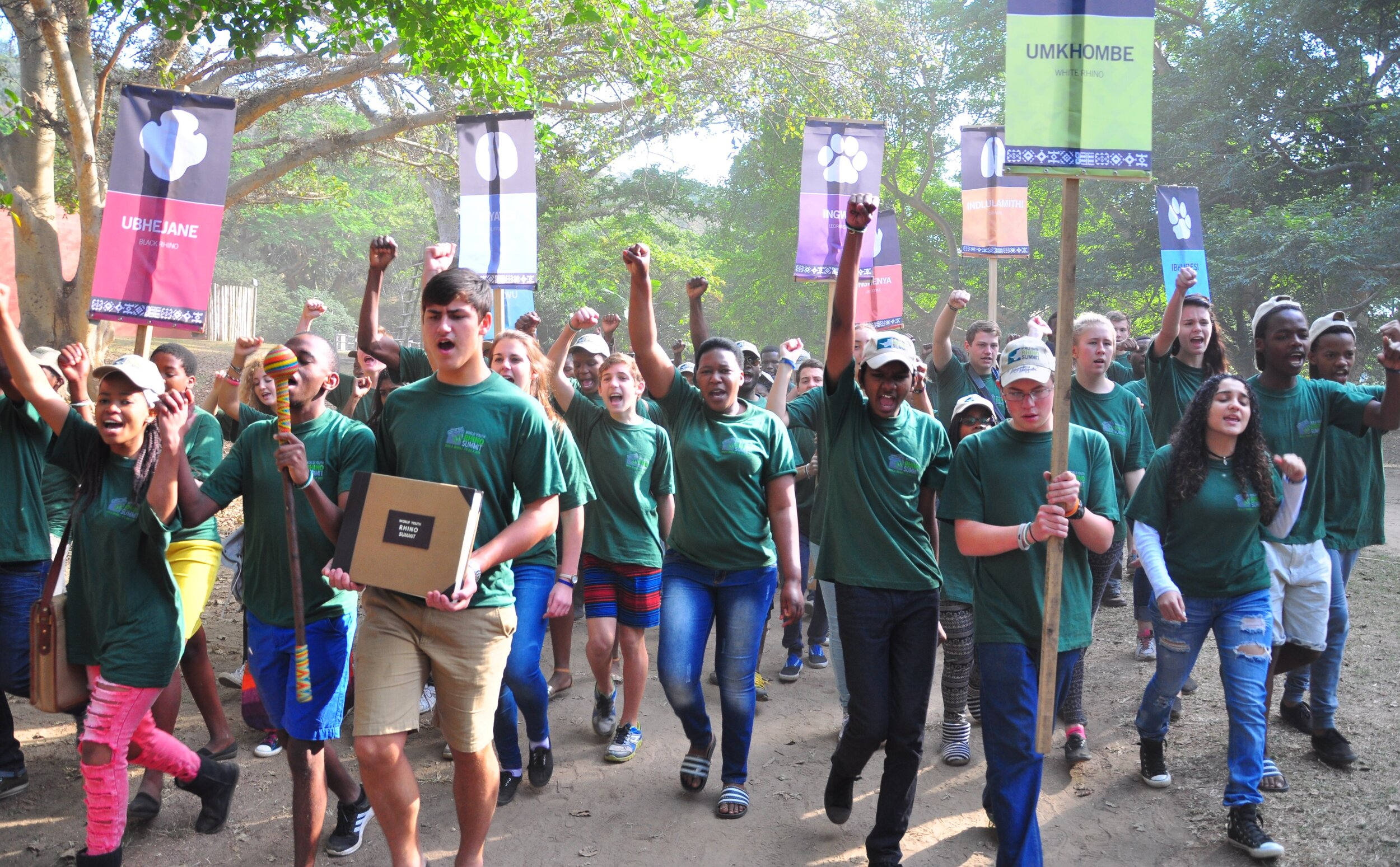 WYWS 2019 Youth Delegates march in support of the World Youth Wildlife Declaration - Winter Summit 2015.JPG