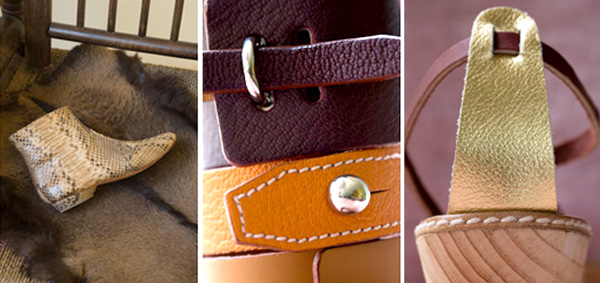 Stylish shoes, bags and accessories in beautiful leathers
