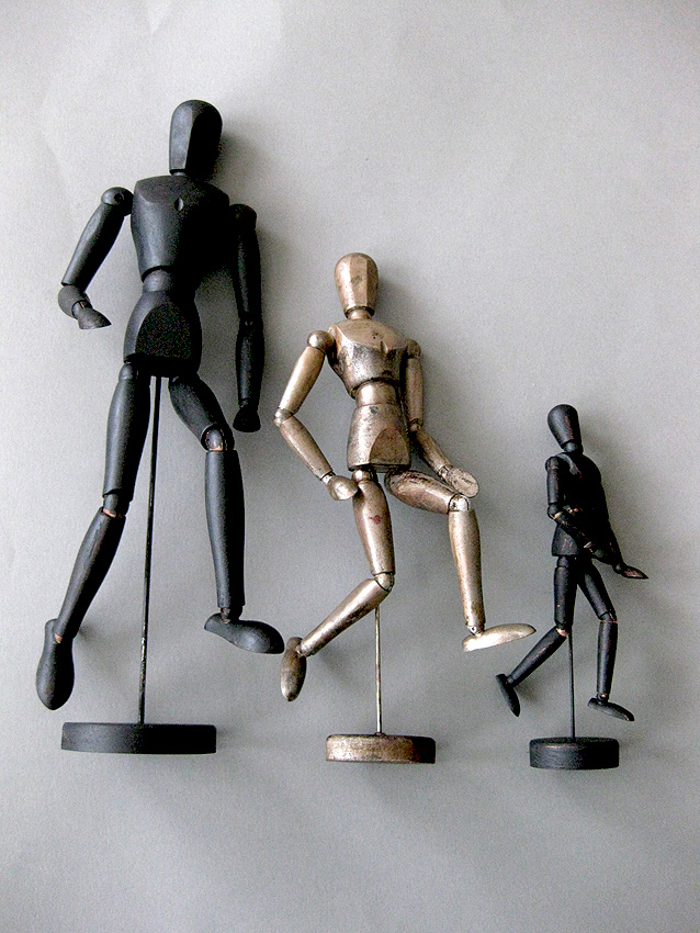 Hand painted wooden mannequins