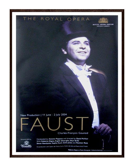Poster print of opera 'Faust'