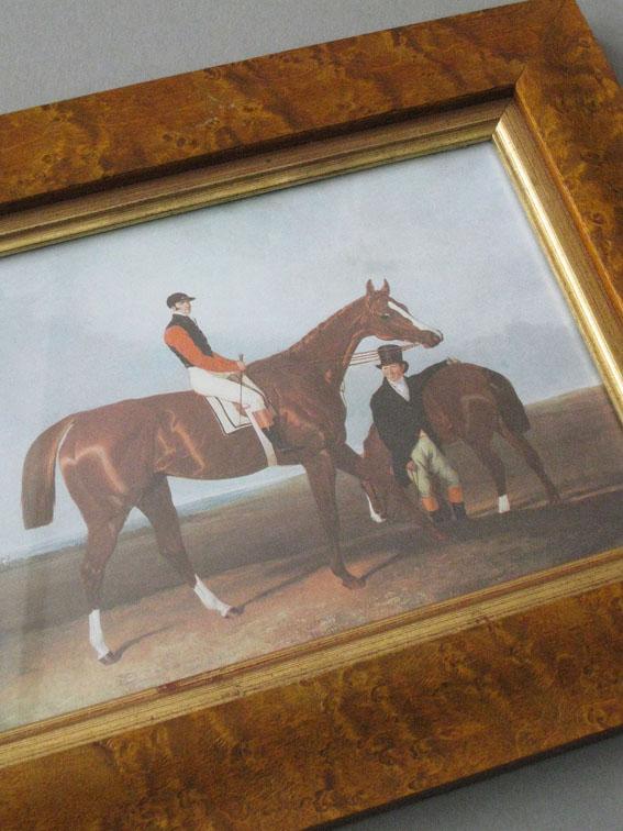 English style vintage equestrian print