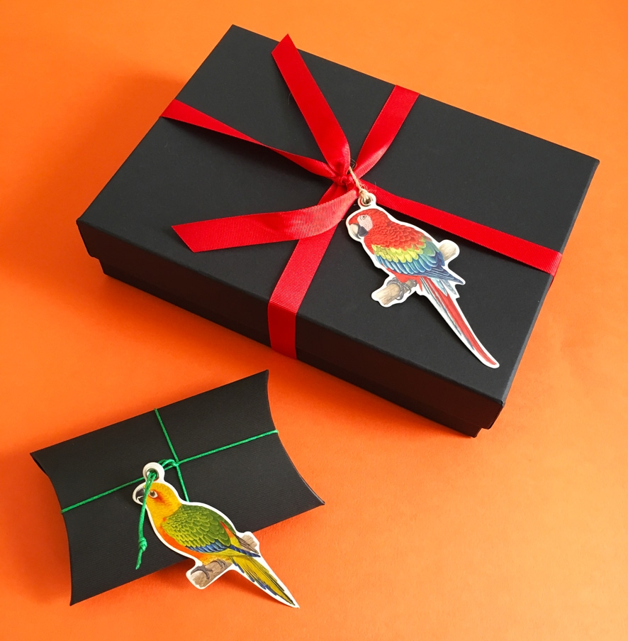 Parrots gift tags wrapping.jpg