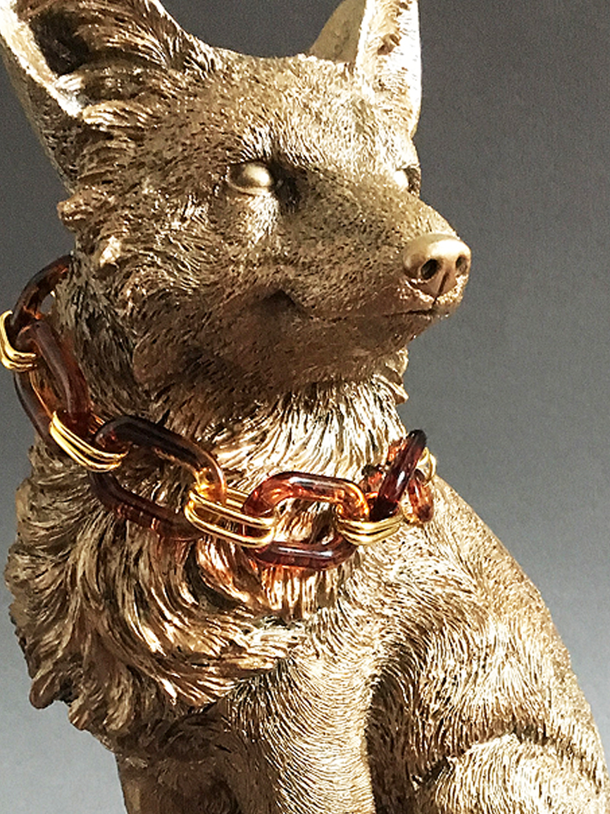 Lady Fox with necklace sculpture.jpg