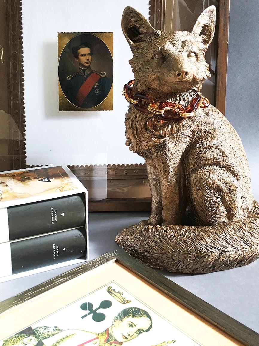 Copper finish fox ornament.jpg
