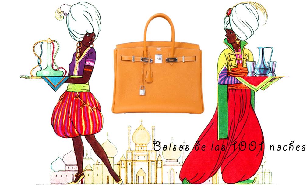 Bolsos de las 1001 noches - birkin naranja 2
