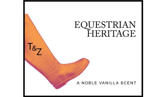 Candle label 'Equestrian Heritage' by Tartan & Zebra  © styleART design studio
