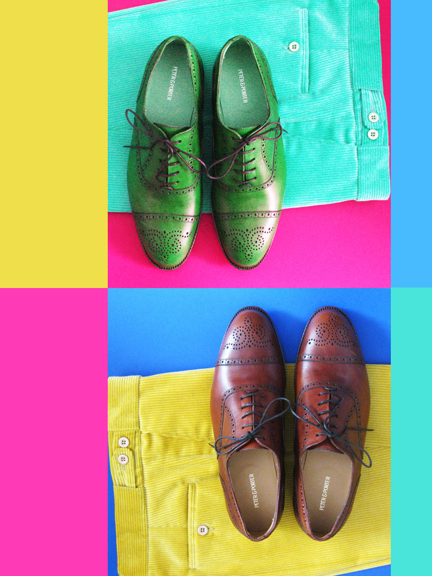 Fashion photography and visual art with English style shoes and classic trousers.  © styleART design studio