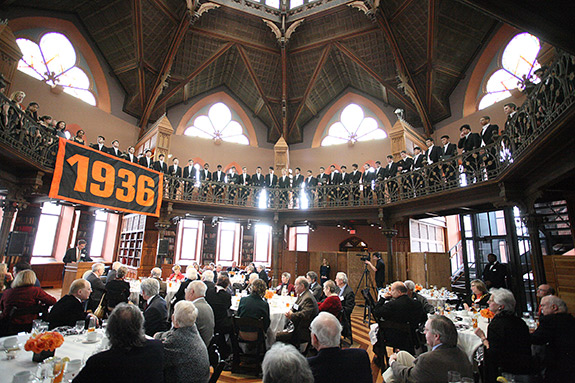 Princeton Glee Club singing for Bill Scheide '36 (Photo by Kevin Birch for Development Communications)