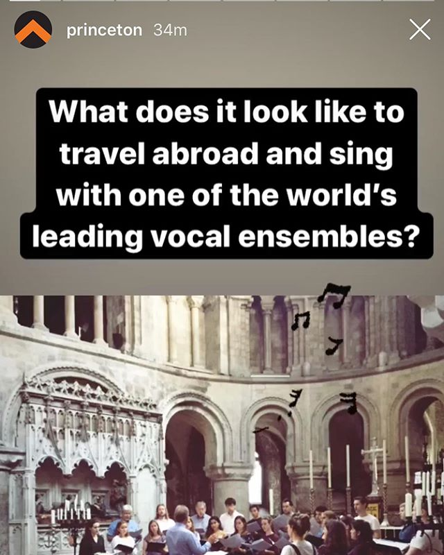 Check out today's @princeton Instagram story all about our members singing with @tenebraechoir this summer!