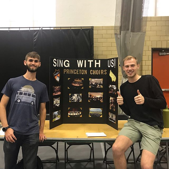 come check us and @tregosingers out at the activities fair until 3! whether you've already auditioned or you're just hearing about us, stop by and say hi :)