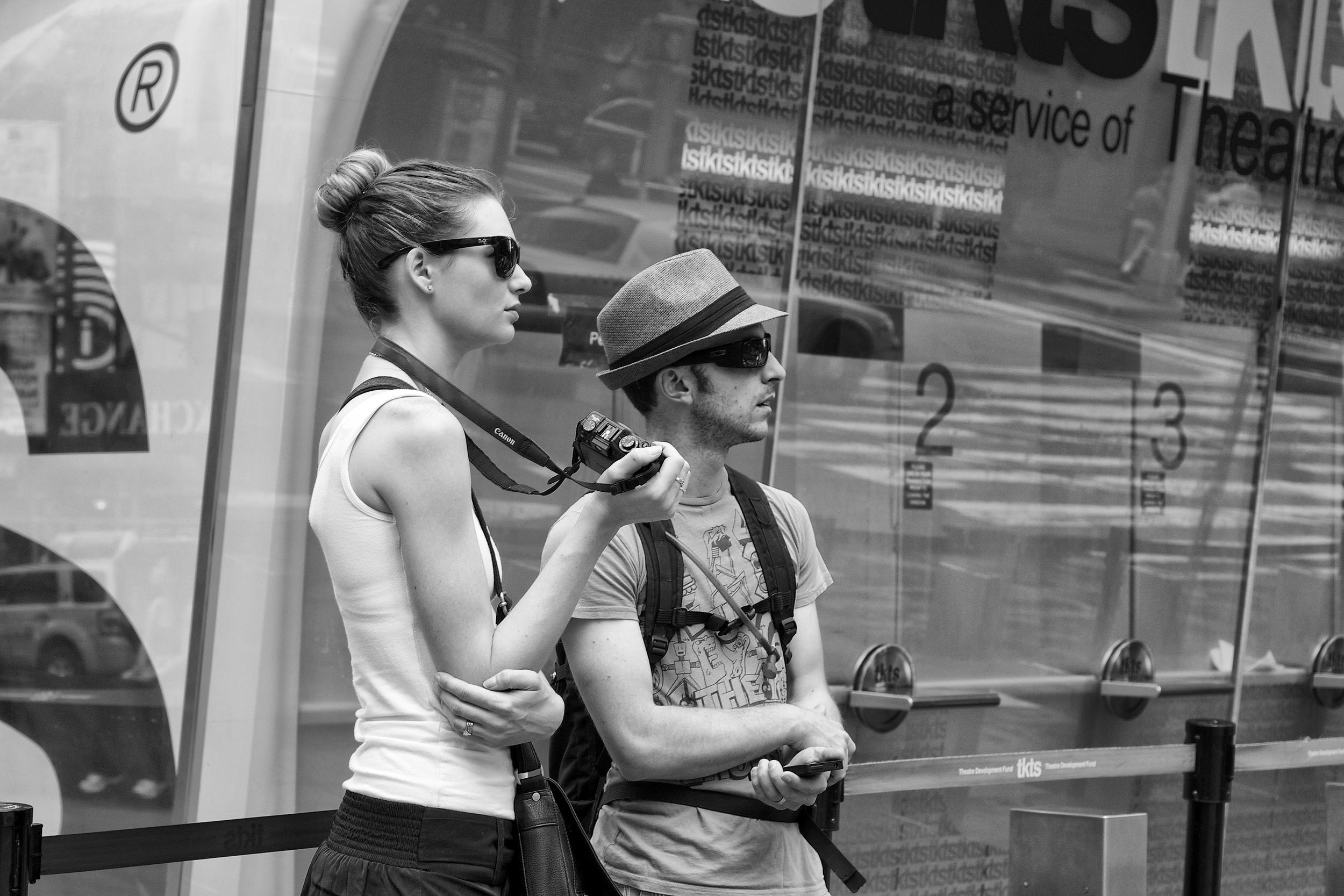 camera and sunglasses