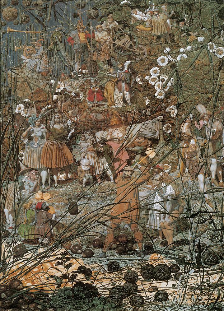 Richard Dadd, The Fairy Feller´s Master-Stroke.  Óleo sobre tela, 54x40cm. 1855-1864.