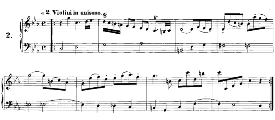 Figure 2.  Canon 2.  a 2 violini  (in unison),  Canon perpetuus , from  Musical Offering  (BWV 1079).