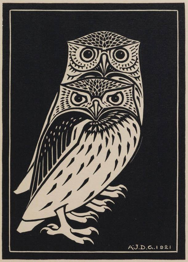 """Two Owls"", da artista Julie de Graag (1877-1924)"