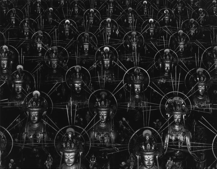Hiroshi Sugimoto,  Sea of Buddhas , pormenor, 1995.