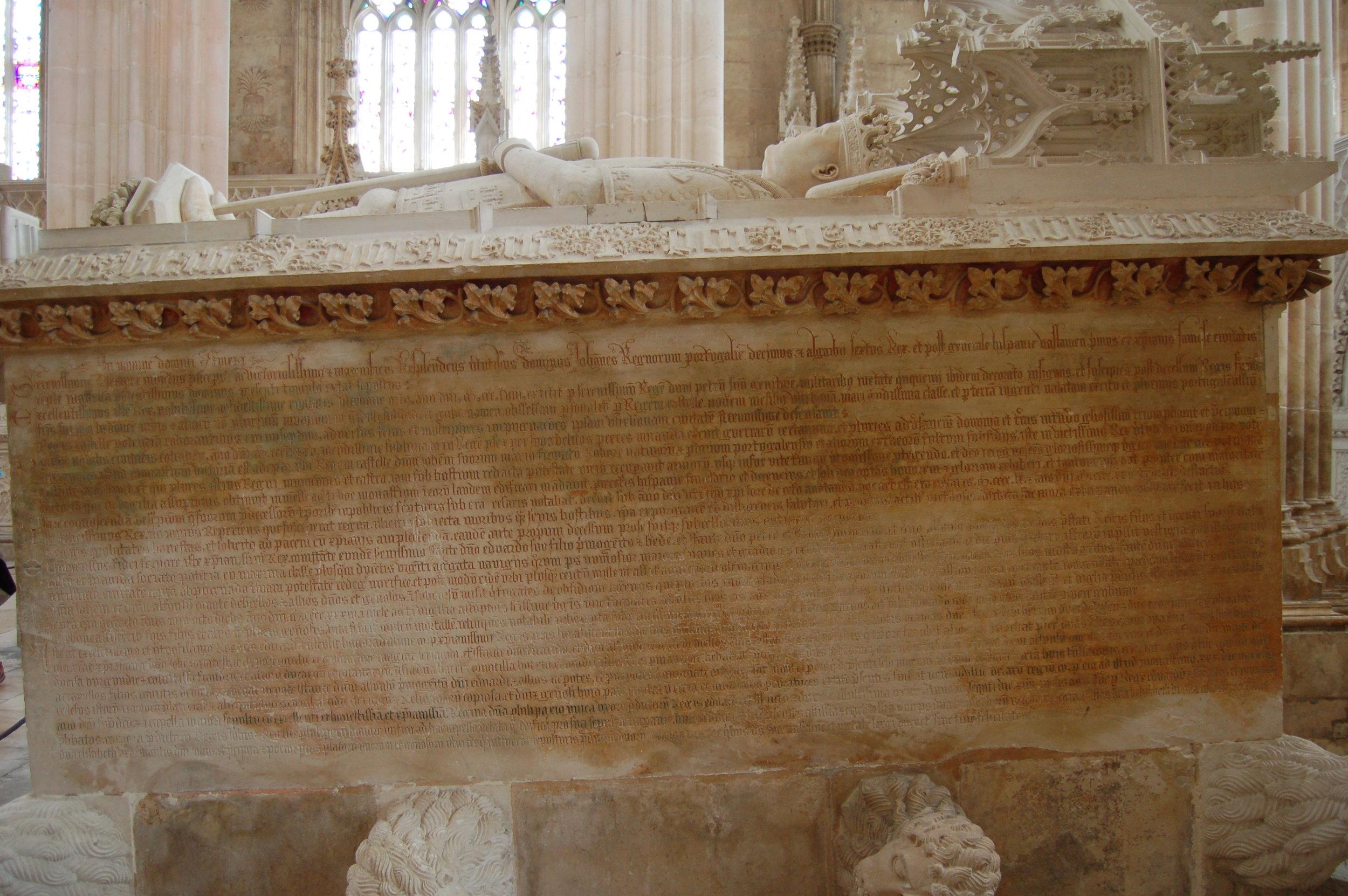 Túmulo do Rei D. João I e D. Filipa Lencastre.