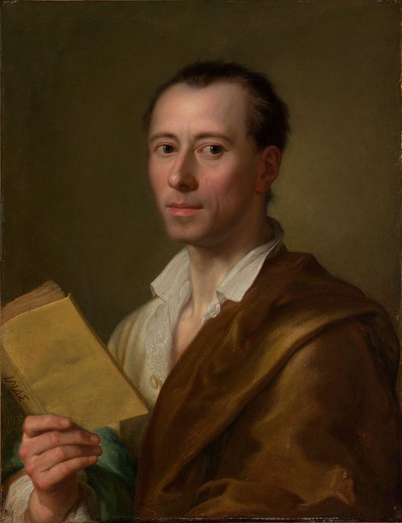 Johann Joachim Winckelmann  (Raphael Mengs after 1755). Metropolitan Museum of Art, New York City (http://www.metmuseum.org/toah/ho/09/euwc/hod_48.141.htm).