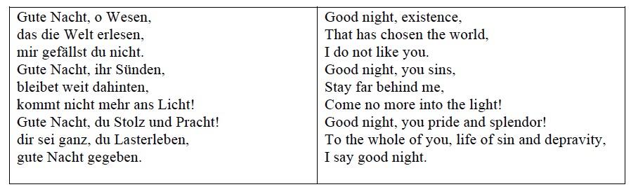 """J. S. Bach, """"Gute Nacht,""""  Jesu, meine Freude  (BWV 227), ninth movement. [1]"""
