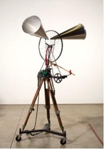 William Kentridge.  Untitled (Bicycle Wheel Sculpture) , 2013.
