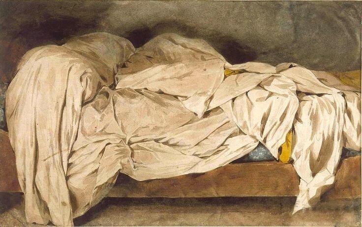 A Cama Desfeita , Eugène Delacroix (1827).