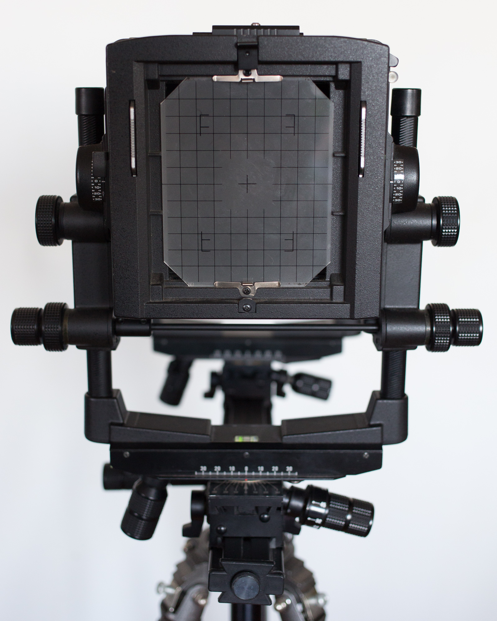 Ground Glass Focusing Screen and Rear of the Large Format Camera