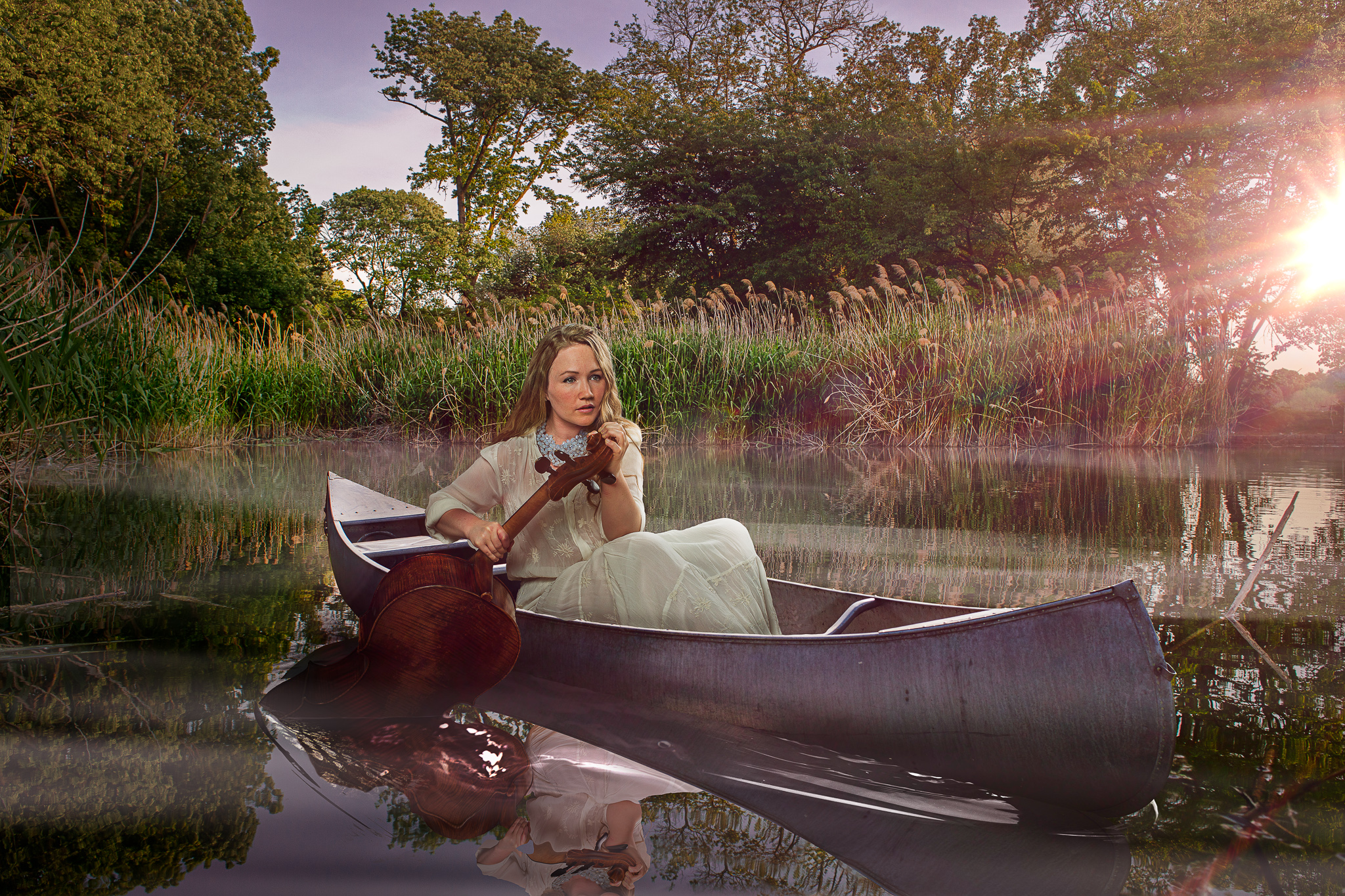 Ashley Bathgate in a Canoe